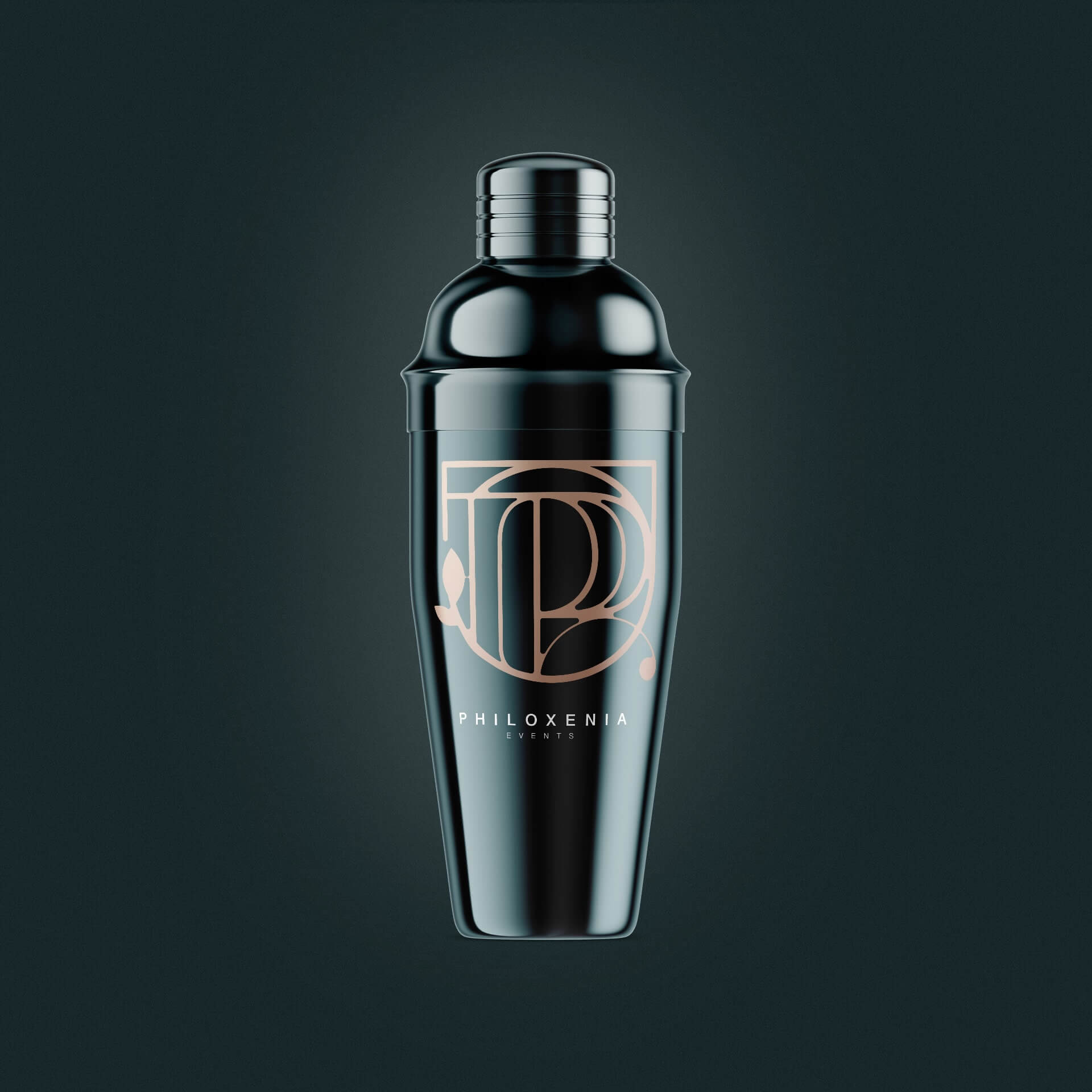 cocktail shaker design for Philoxenia